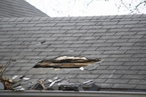One of the first things every homeowner can do during or after a storm is to search for signs of roof damage regardless of how well maintained or recently installed it is. Even if you don't have visible water inside your house, damage to the roof is always a possibility. Although it may be tempting to climb up the roof, we suggest that homeowners avoid it whenever possible. Always try to evaluate the ground level damage of the roof if you can. Try using a pair of binoculars to see more clearly before you plan to use the ladder. Rain is typically not enough on its own to damage a structurally sound roof. Other culprits like wind, flying debris, and hail add to the damage of your roof. Often the damage to the roof is noticeable to the eye. Yet, you should take your time and take a close look at your situation. Few signs can be surprisingly difficult to identify. Let's look at some of the most popular forms of storm damage: <a href=